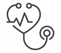 Stethoscope icon to represent vein and cardiovascular services